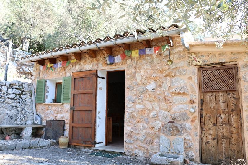 Acogedor olivar con porche en Fornalutx